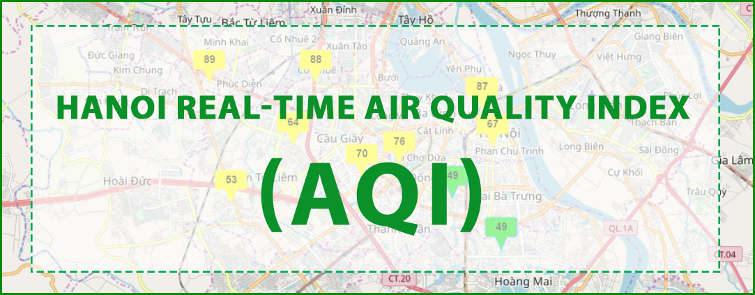 Hanoi Real-time Air Quality Index (AQI)